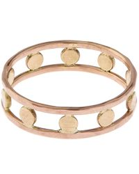 Melissa Joy Manning | Red Gold Double Band Circle Ring | Lyst