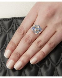 Suzanne Kalan - Gold English Blue Topaz Cluster Ring - Lyst