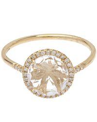 Suzanne Kalan | Metallic Gold White Diamond And White Topaz Ring | Lyst