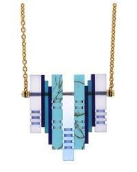 Lily Kamper | Blue Resin Hydra Pendant Necklace | Lyst