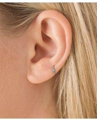 Maria Tash | Metallic 2mm Diamond Princess Ring | Lyst