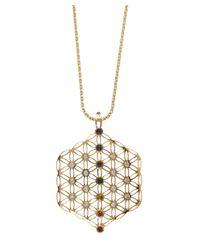 Noor Fares | Metallic Flower Of Life Chakra Amulet | Lyst
