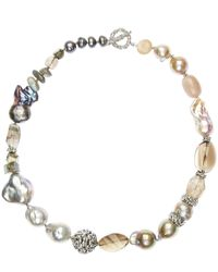 Stephen Dweck - Metallic Silver Mixed Stone And Baroque Pearl Necklace - Lyst