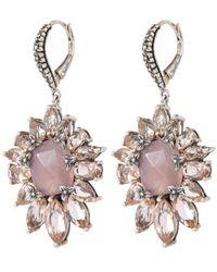 Stephen Dweck - Metallic Silver Pink Chalcedony And Peach Quartz Earrings - Lyst