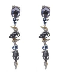 Alexis Bittar | Blue Long Drop Crystal Accent Earrings | Lyst