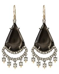 Alexis Bittar | Metallic Ash Crystal Accent Drop Earrings | Lyst