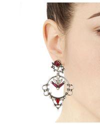 DANNIJO - Metallic Esther Multi Drop Crystal Earrings - Lyst