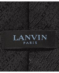 Lanvin - Blue Jacquard Textured Tie for Men - Lyst