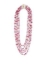 Rosantica | Pink Pegaso Long Bead Necklace | Lyst