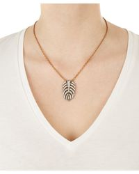 Lulu Frost - Metallic Drift Pendant Necklace - Lyst