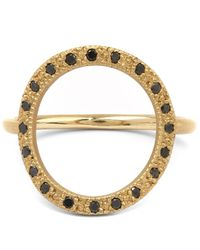 Brooke Gregson | Metallic Gold And Black Diamond Infinity 20 Ring | Lyst