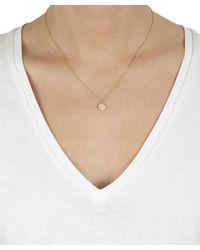 Satomi Kawakita - Metallic Large Gold Milgrain Hexagonal Charm Diamond Necklace - Lyst