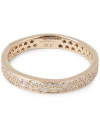 Satomi Kawakita | Metallic Gold Double Row White Diamond Ring | Lyst