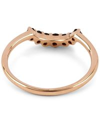 Anna Sheffield | Metallic Rose Gold Grand Tiara Black Diamond Ring | Lyst