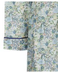 Liberty Green Elysian Long Cotton Robe