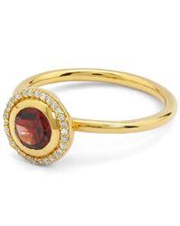 Astley Clarke - Metallic Exclusive Gold Garnet Halo Ring - Lyst