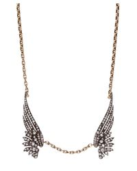 Annina Vogel | Metallic Antique Gold Old Cut Diamond Wings Necklace | Lyst