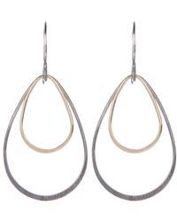 Melissa Joy Manning | Metallic Gold And Silver Double Teardrop Earrings | Lyst