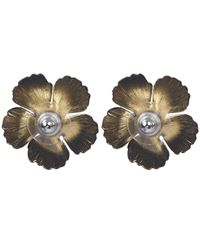Jennifer Behr - Black Gold-plated Blossom Earrings - Lyst