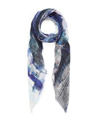 Lily and Lionel | Blue Heath Landscape Silk Scarf | Lyst