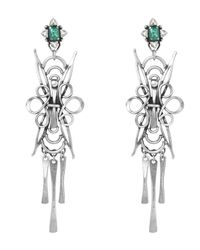 DANNIJO | Metallic Silver Dharma Drop Earrings | Lyst