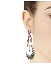 DANNIJO - Metallic Silver Grianne Crystal Drop Earrings - Lyst