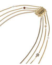 Rosantica - Multicolor Cubi Multi-chain Beaded Quartz Necklace - Lyst