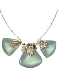 Alexis Bittar - Metallic Gold-plated Pleated Bib Necklace - Lyst