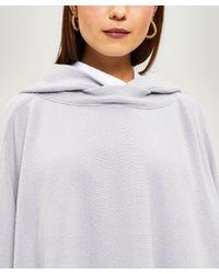 Rosetta Getty White Hooded Wool-blend Poncho