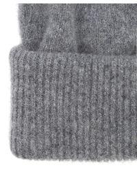 Paul Smith - Gray Striped Pom Pom Beanie for Men - Lyst