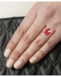 Monica Vinader - Rose Gold-plated Pink Quartz Medium Siren Stacking Ring - Lyst