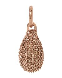 Monica Vinader - Pink Rose Gold-plated Stellar Champagne Diamond Pendant - Lyst