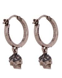 Alexander McQueen Metallic Creole Mini Hoop Earrings