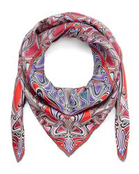 Liberty Red Ianthe 90x90 Silk Scarf