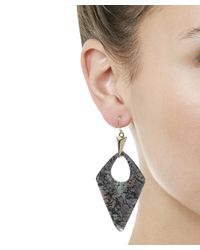 Alexis Bittar - Multicolor Abalone Patterned Lucite Drop Earrings - Lyst