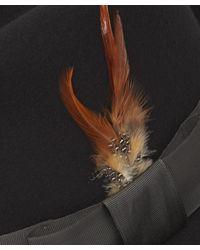Paul Smith - Black Wool-felt Feather Trilby Hat for Men - Lyst