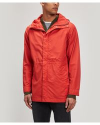 Norse Projects - Red Lindisfarne Gmd Hooded Rain Mac for Men - Lyst