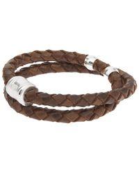 Miansai - Brown Leather Casing Bracelet for Men - Lyst