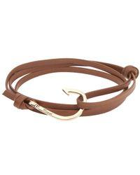 Miansai Brown Hook On Leather Bracelet for men