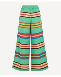 Rianna + Nina Green Loukoumi Silk Trousers