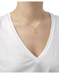 Alex Monroe | Metallic Gold-plated Flying Swallow Necklace | Lyst