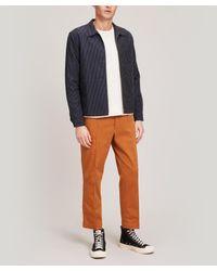 YMC Blue Bowie Zip-thru Cotton-blend Jacket for men