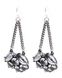 Lulu Frost Metallic Silver-plated Diamanda Drop Earrings