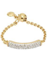 Monica Vinader Metallic Gold Vermeil Fiji Diamond Bar Friendship Ring