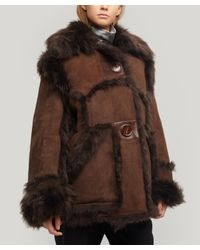 Acne Brown Lavinia Oversized Shearling Jacket