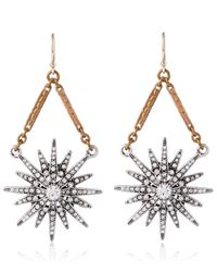 Lulu Frost - Metallic Gold-tone Radiant Drop Earrings - Lyst