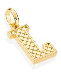 Monica Vinader Metallic Gold Vermeil Alphabet Pendant A-z