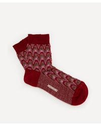Missoni Red Wave Stripe Cotton-blend Socks