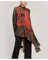 Palmer//Harding Red Abstract Print Spicy Shirt
