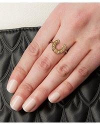 Annina Vogel - Metallic Gold Pearl Horseshoe Ring - Lyst